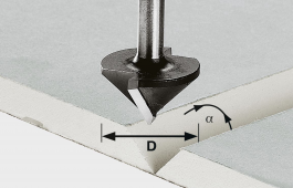 Carbide V-Groove Cutter, 8mm Shank