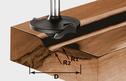 Profile Cutter, 8mm Shank HW S8 D42/13/R6+12