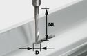 Drill Router Bit for Aluminium, 8mm Shank