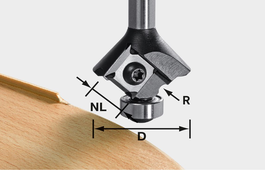 Classic ogee cutter with reversible blades 8mm for MFK 700