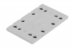 Backing Pad 80mm x 130mm for RS 4 for abrasives for clamping