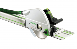 TS 75 210mm plunge cut circular saw with 1400mm guide rail