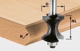 Half-Round Cutter, 8mm Shank