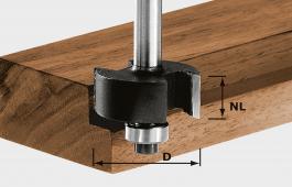Rebating Cutter, 8mm Shank HW S8 D31,7/NL 12,7