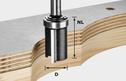 Edge-Trimming Cutter, 8mm Shank HW S8 D19/NL25