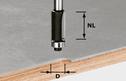Edge-Trimming Cutter, 8mm Shank HW S8 D12,7/NL25