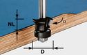 Chamfer Edge-Trimming Cutter HW S8 D24/0° +45°