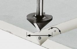 Carbide V-Groove Cutter, 8mm Shank
