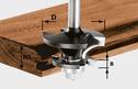 Counter-Profile Groove Cutter, 8mm Shank HW S8 D43/21 A/KL