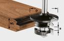 Counter-Profile Spring Cutter, 8mm Shank HW S8 D43/21 A/KL
