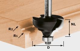 Multi-Profile Cutter, 8mm Shank HW S8 D36,7/R6/R6
