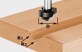 Profile Cutter, 8mm Shank