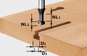 Key-Hole Cutter, 8mm Shank HW S8 D10,5/NL13