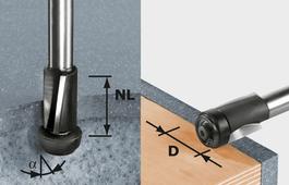 Edge-Trimming Cutter, 12mm Shank HW D19/25 ss S12