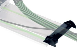 guide rail extractor hose/lead guide